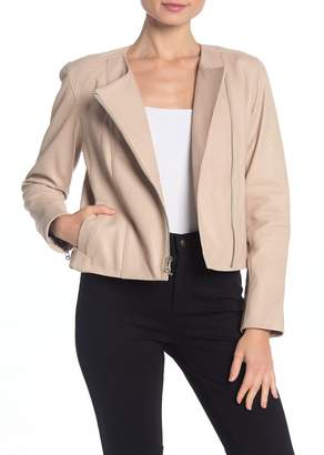 Cole Haan Matte Lambskin Leather Jacket