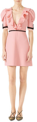 Gucci Crepe Silk Wool Dress, Light Pink $2,800 thestylecure.com