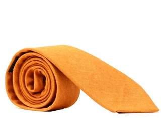 Blade + Blue Solid Copper Melange Cotton Tie