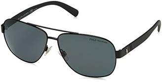 Polo Ralph Lauren Men's 0Ph3110 926781 Sunglasses, (Demiglos Black/Polargrey)