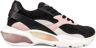 Valentino Bounce Sneakers in Black & Rose | FWRD