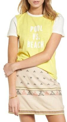 Women's Madewell Pool Vs. Beach Tee $35 thestylecure.com