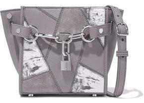 Alexander Wang Chain-Embellished Patchwork Leather And Suede Shoulder Bag