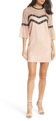 Chelsea28 Bell Sleeve Lace Shift Dress