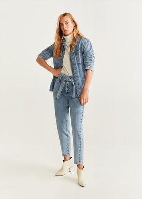 MANGO High waist Acid jeans medium blue - XXS - Women