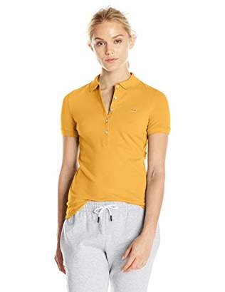 Lacoste Women's Classic Short Sleeve Slim Fit Stretch Pique Polo, PF7845