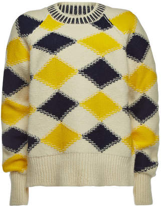 Maison Margiela Printed Pullover with Wool and Alpaca