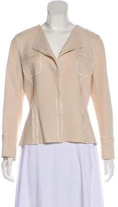 Couture St. John Wool Button-Up Jacket