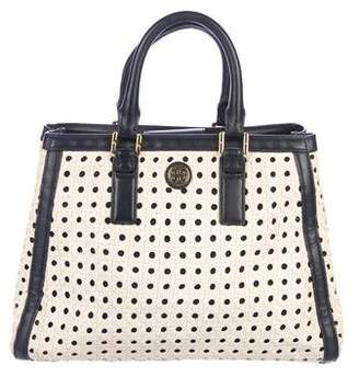 Tory Burch Woven Leather Handle Bag