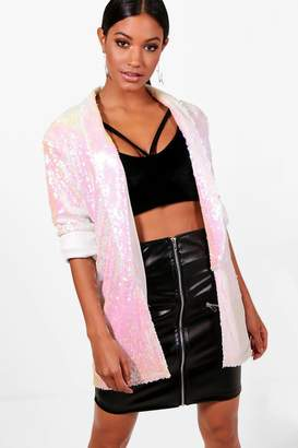 boohoo Summer Sequin Blazer