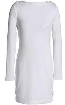 62926871d63 Bailey 44 Lace-up Melange Stretch-modal Mini Dress