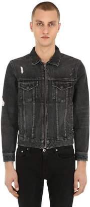 The Kooples Destroyed Cotton Denim Jacket