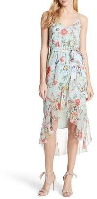 Alice + Olivia Mable Floral Silk Midi Dress