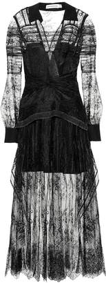 Self-Portrait Self Portrait Lace shirt dress