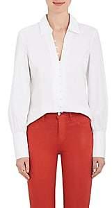 L'Agence Women's Naomi Cotton-Blend Poplin Blouse - White