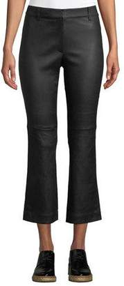 Derek Lam 10 Crosby Cropped Flare-Leg Leather Pants