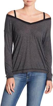Michael Stars Front To Back Cold Shoulder Long Sleeve Tee