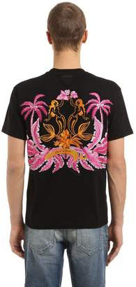 Prada Oversized Embroidery Jersey T-Shirt