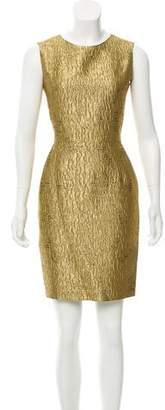 Oscar de la Renta Brocade Sleeveless Dress