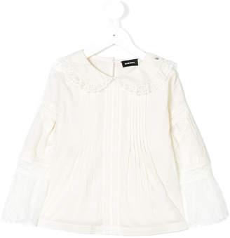 Diesel lace trim blouse