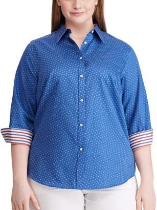 Chaps Women's Plus 3/4 Sleeve Shirt