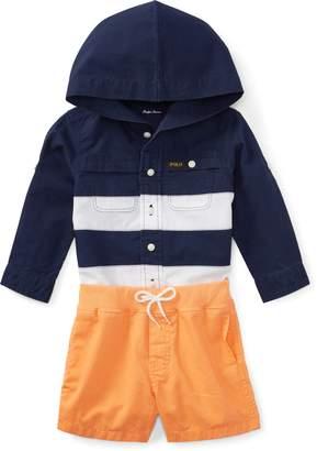 Ralph Lauren Hooded Shirt & Short Set