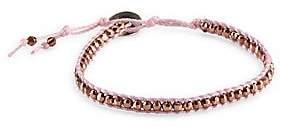Chan Luu Women's 18K Goldplated Bead Cord Bracelet