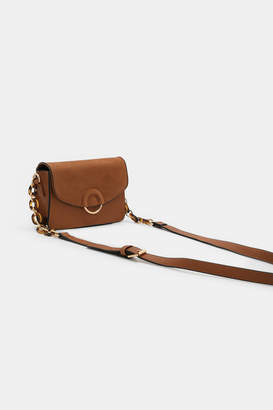 Ardene Faux Leather and Suede Crossbody Bag