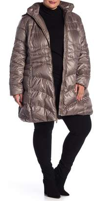 Via Spiga Quilted Hooded Jacket (Plus Size)