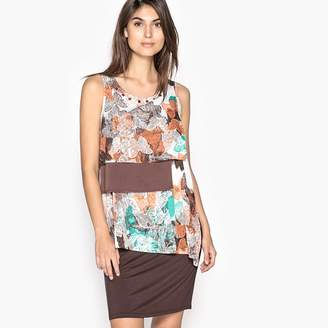Anne Weyburn Asymmetrical Butterfly Print Dress