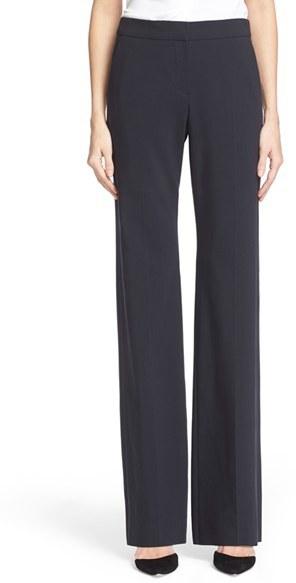 Women's Armani Collezioni Straight Leg Featherweight Wool Pants
