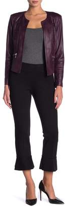 Insight Solid Flared Ankle Cropped Leggings