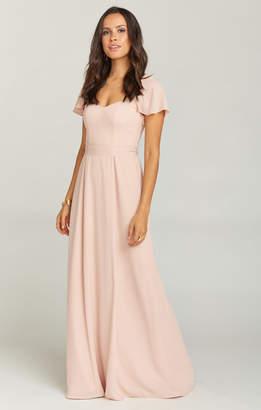 Show Me Your Mumu Marie Sweetheart Maxi Dress ~ Dusty Blush Crisp