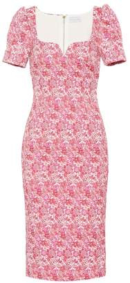 Rebecca Vallance Estelle floral brocade dress