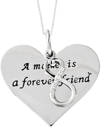 "Sentimental Expressions Sterling 18"" Forever Friend Necklace"