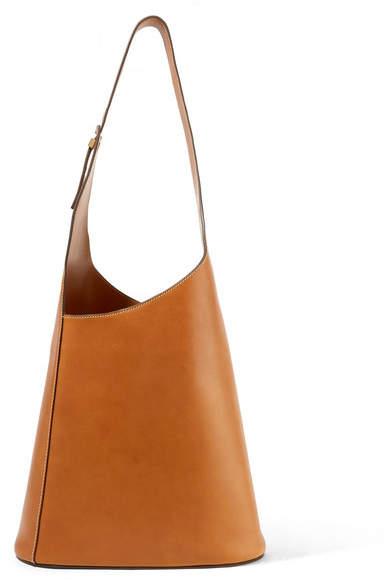 Victoria Beckham Asymmetric Leather Shoulder Bag - Tan