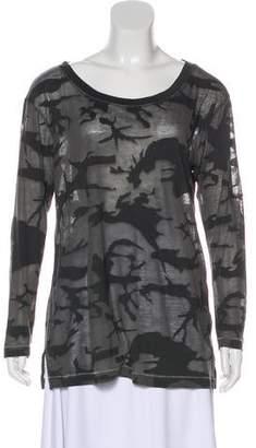 Rag & Bone Camouflage Long Sleeve Top