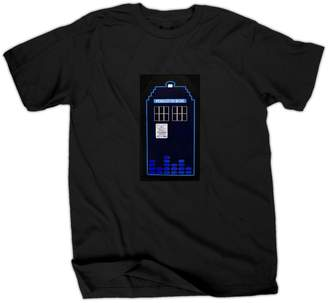 Doctor Who Tardis Sound Activated LED Mens T-Shirt | S