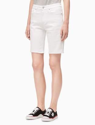 Calvin Klein white denim city shorts