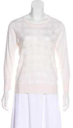 Magaschoni Plaid Silk Sweater