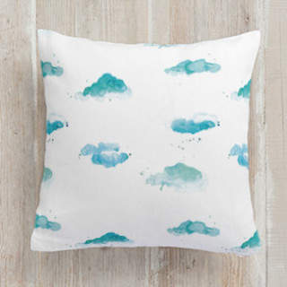 Watercolor Clouds Square Pillow