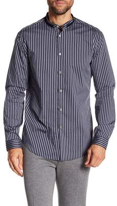 John Varvatos Collection Long Sleeve Stripe Print Slim Fit Woven Shirt