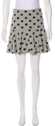 Robert Rodriguez Polka Dot Mini Skirt