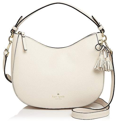 Kate Spade Hayes Street Aiden Small Leather Hobo - CEMENT/GOLD - STYLE