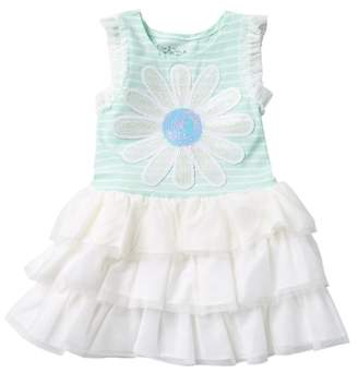 Pippa & Julie Sequin & Stripes Dress (Toddler Girls)