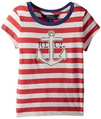 Polo Ralph Lauren Cotton Jersey Graphic T-Shirt Girl's T Shirt