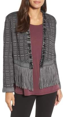 Nic+Zoe Steel Fringe Jacket