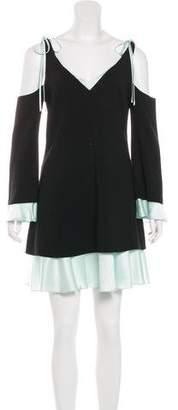 Cinq à Sept Cold-Shoulder Shift Dress