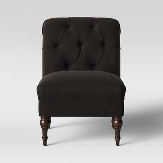 Threshold Wales Rollback Tufted Turned Leg Slipper Chair