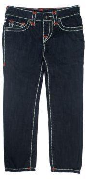 True Religion Toddler's, Little Boy's, & Boy's Geno Contrast Stitch Jeans $129 thestylecure.com